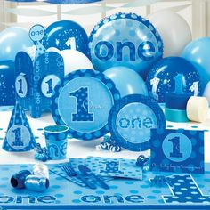 Everything One Boy – Classic Party Pack for 8; Includes 8 invitations, dinner plates, dessert plates, cups, forks, spoons, napkins (50 pack), solid-color tablecover and cake candles.    Retail Price $ 26.44  Your Price Today: $ 22.99