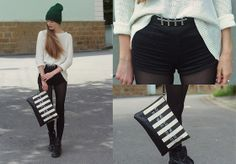 American Apparel Hat, Bershka Bag, Forever 21 Belt, Dr. Martens Shoes, Primark Shorts