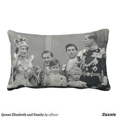 Queen Elizabeth and Family Lumbar Pillow
