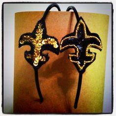 This would go perfect w/my Saints gear. #saints #headband #football