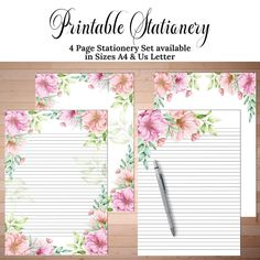 Free Printable Stationery, Free Printables, Money Chart, Cornrow, Stationery Paper, Writing Paper, Note Paper, Journal Pages, Love Letters