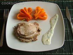 Arrosto di maiale in crosta di semi di papavero e sesamo