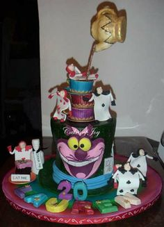 Novelty Cakes | Cakes of Joy Mad Hatter cake Birthday cake Crazy Cakes, Chocolate Sweets, Decadent Chocolate, Cupcake Cookies, Cupcakes, Mad Hatter Cake, Cool Birthday Cakes, Novelty Cakes, Celebration Cakes