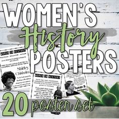 This Women's History poster bundle includes 28 visually appealing posters highlighting influential women in government, literature, science, and human rights. These posters can be used individually or use all 28 to create a beautiful Women's History bulletin board display! History Bulletin Boards, History Posters, Bulletin Board Display, School Levels, Marie Curie, History Class, Women In History, Teaching Tips, Task Cards