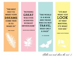 creative handmade bookmarks design with quotes - Google Search