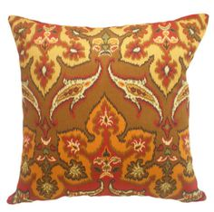 Colorful Fall Ikat Pillows, Autumn Colors http://www.etsy.com/listing/53573760/colorful-fall-ikat-pillows-autumn-colors#