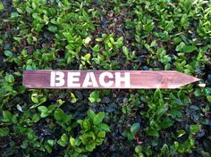 Wood Beach Sign