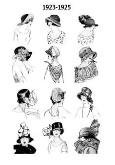 Types Of Hats For Women | 1920s pictures of hat hair styles these images of hats and hair styles ...