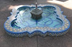 Tile fountain restoration, Balboa Park