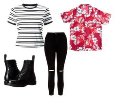 """""""Rap Monster Outfit"""" by clothesbyzoey on Polyvore featuring Miss Selfridge, New Look and Dr. Martens"""