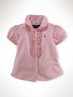 Ruffled Oxford Shirt. Ralph Lauren. $29.50