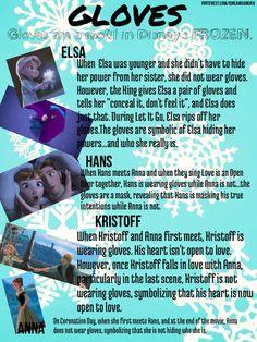 Disney's FROZEN...Anna, Elsa, Hans, and Kristoff. Why they wear gloves....