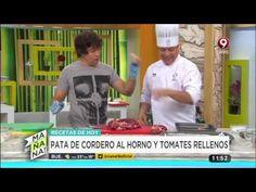 Receta de hoy: pata de cordero al horno y tomates rellenos