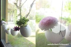 wunderbare Lebensart: DIY Easter decoration with hanging eggs #easterdeko