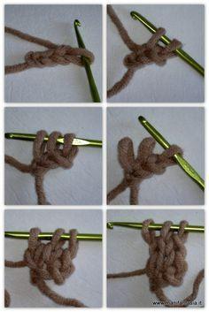 scuola uncinetto maglia tubolare
