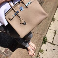 Togo Birkin...matching bag and sandals :)