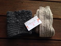 Bought these amazing boot cuffs and boot socks for fall/winter. Catherine Cole Studio on Etsy.