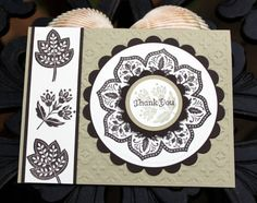 Thanksgiving Card...Stampin' Up...Day of Gratitude...sharp looking in white, black and gray...