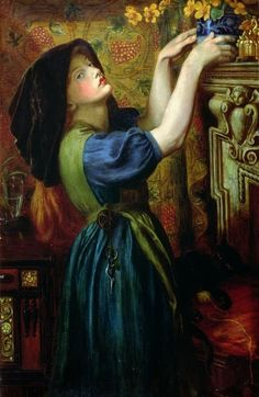 Marigolds. 1874. Dante Gabriel Rossetti - Pre Raphaelite Art