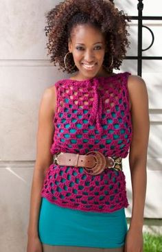 Another cute crochet top pattern that I need to make! Perfect over a tank with a skirt this spring!
