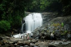 The vibrant waterfalls of Munnar, Kerala
