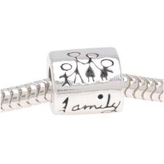 Family Bead - .925 Sterling Silver, Fully Compatible with Biagi, Pandora, Chamilia, Troll