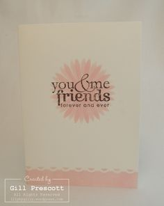Stampin Up - friendly words