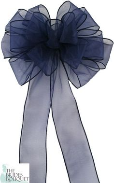 Our Pew Bows Navy Sheer are sold in sets of 4 bows and we offer 15 different colors to choose from. Each bow is made with 15 loops and 2 tails of 2 inch ribbon. Each bow has a sturdy florist wire stem to aid in attachment. Wedding Pew Decorations, Wedding Pews, Blue Wedding, Diy Wedding, Wedding Dresses, Church Decorations, Fall Wedding, Wedding Bouquets, Rustic Wedding