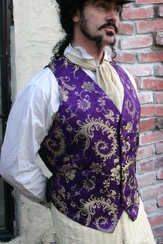 Purple and Gold Floral Imperial Steampunk Silk by dashandbag