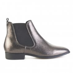 BOTÍN CHELSEA METALIZADO PIEL FOSCO Chelsea Boots, Ankle, My Style, Shoes, Fashion, Winter, Fur, Trends, Zapatos