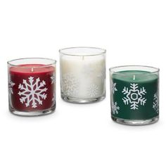 "HOLIDAY SPARKLE SCENTED CANDLE TRIO Enjoy three sparkling holiday scents just right for the season. Each decorative glass jar features a different fragrance: Cinnamon Sparkle, Spruce in the Snow™, Iced Snowberries™. 2¾""h. Burn time: 20-30 hours each. Your PartyLite® Candles Consultant Dawn Wojtowicz 708-337-4933"