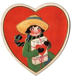Dear Little Heart Shaped Valentine - The Graphics Fairy