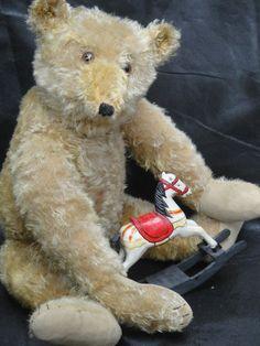 "VERY RARE ANTIQUE MARGARETHE STEIFF TEDDY BEAR 1916 HUNCHBACK BUTTON LONG F 27"""
