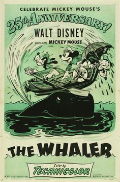 Mickey, Donald, and Goofy are crewing a whaling ship. Their mishaps include Donald fighting off some hungry birds, Mickey and a bucket of water that. Walt Disney, Disney Pixar, Disney Films, Disney Fun, Disney Animation, Disney Mickey, Disney Villains, Retro Cartoons, Old Cartoons