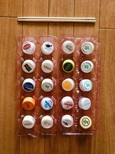 【高齢者(在宅介護)レクリエーション】卵のパックとペットボトルキャップと割りばしを使った『20個たこ焼きゲーム』に挑戦してみた   chibiike Takoyaki, Triangle, Calendar, Holiday Decor