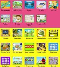 Muchos juegos en línea - se pueden usar con la pizarra interactiva.  En español.