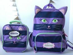 girls backpack, cats backpack, school backpack, monogram backpack, toddler backpack, monogrammed backpack, book bag, back to school