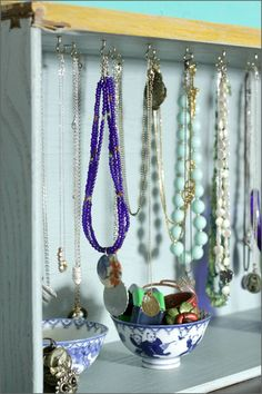 Turn an Old Drawer into a Jewelery Organizer