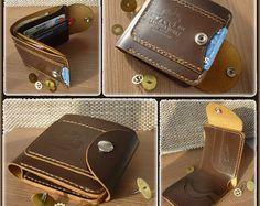 7af6734b3 Titular tarjeta cartera cuero cartera Bifold cartera para hombre cartera  personalizada cartera padrino carteras de cuero