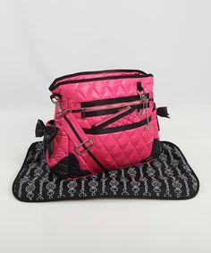 Loving this Caramellles Hot Pink The Truffle Bow Diaper Bag on Wholesale Designer Handbags, Cheap Designer Handbags, Fab Bag, Handbags Online, Discount Handbags, Maternity Wear, Maternity Fashion, Baby Shop, Baby Love