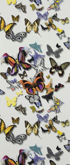 Tapet 20151: Butterfly Parade Multicolore från Christian Lacroix - Tapetorama