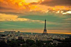 Atardecer en Paris!!!