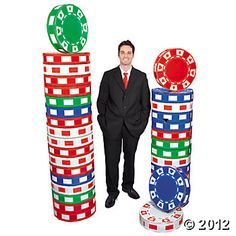 3D Poker Chip Columns,  68.50 for a set, Oriental Trading Co. Casino Theme 655dc310140b