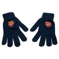 cb56474b422 Official football team gift  arsenal f.c knitted  gloves  adult