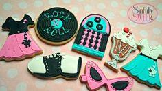 Sinfully Sweet:  50's Rock n' Roll.  # saddles hoes # cat eyeglasses #poodleskirts # jukebox # ice cream sundae #vinlyrecords