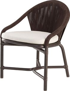 Crescent Dining Chair by McGuire - Outdoor Chairs, Dining Chairs, Outdoor Decor, Furniture Decor, Outdoor Furniture, Rattan Sofa, Natural Brown, Leather Cord, Timeless Design