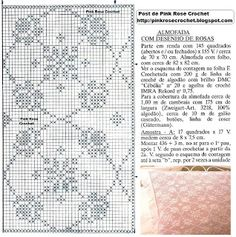 Fantastic Totally Free Crochet Flowers curtain Style If you realise the way to crochet any blossom, you may help to make numerous types of projects. Crochet Patterns Filet, Floral Embroidery Patterns, Crochet Lace Edging, Crochet Diagram, Crochet Round, Crochet Chart, Filet Crochet, Crochet Flowers, Crochet Stitches