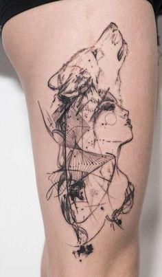 cool wolf tattoo designs © tattoo artist Through . cool wolf tattoo designs © tattoo artist Through My Third Eye 💓💓💓 Pretty Skull Tattoos, Lace Skull Tattoo, Beautiful Tattoos, Black Tattoos, Beautiful Beautiful, Wolf Tattoo Design, Tattoo Designs, Henna Designs, Indian Tattoo Design