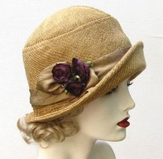 Womens Hat Cloche Couture Fabric Hat 1920's in Honey Gold Vintage Style Winter Hats. $145.00, via Etsy.