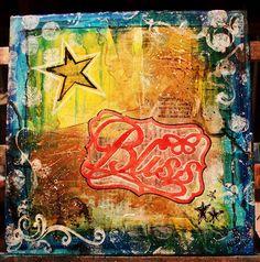 Bliss, 12x12 Mixed Media Canvas